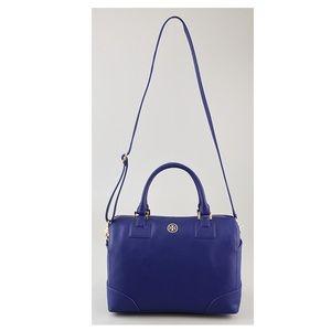 Tory Burch Blue Robinson Satchel Crossbody Bag